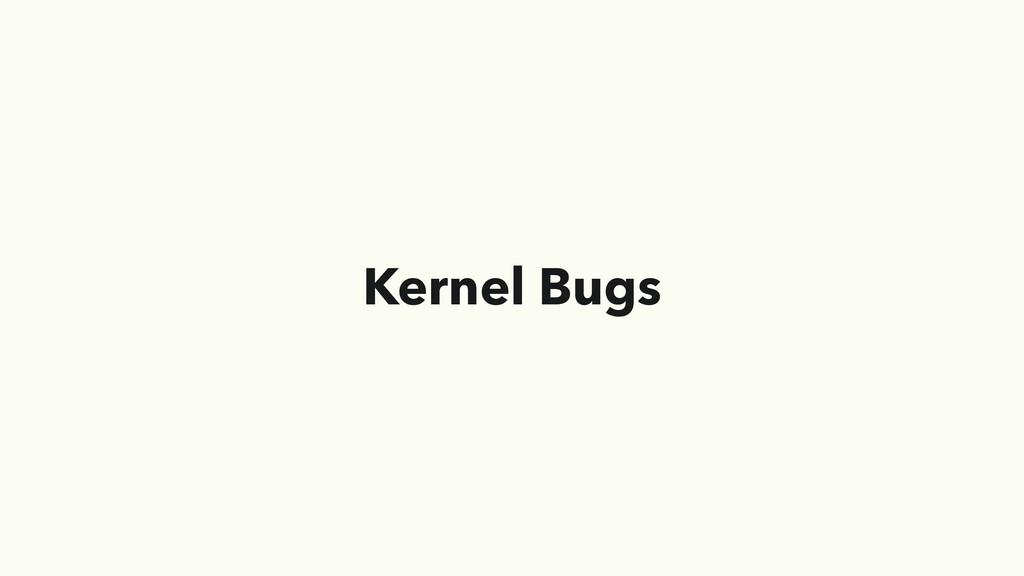 Kernel Bugs