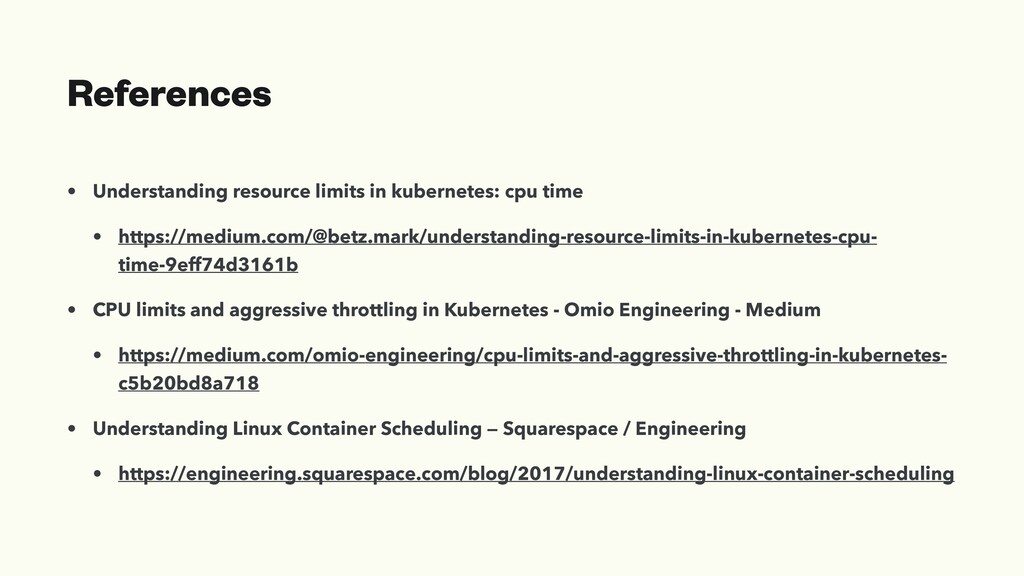 References • Understanding resource limits in k...