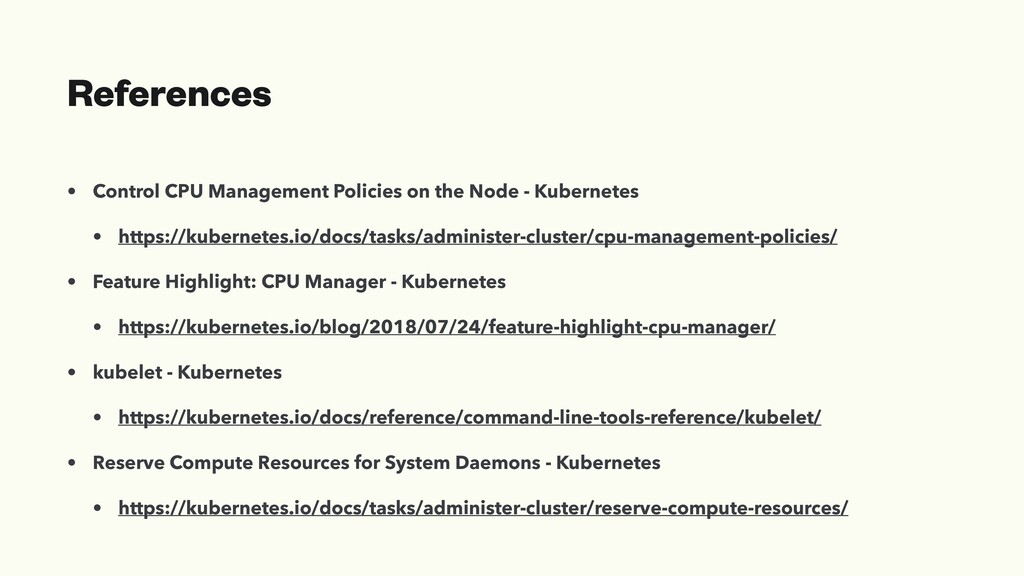 References • Control CPU Management Policies on...