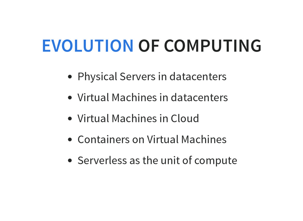 OF COMPUTING Physical Servers in datacenters Vi...