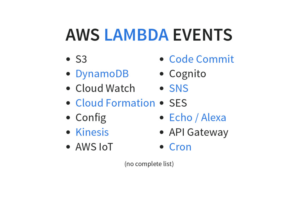 AWS EVENTS S3 Cloud Watch Config AWS IoT Cognit...