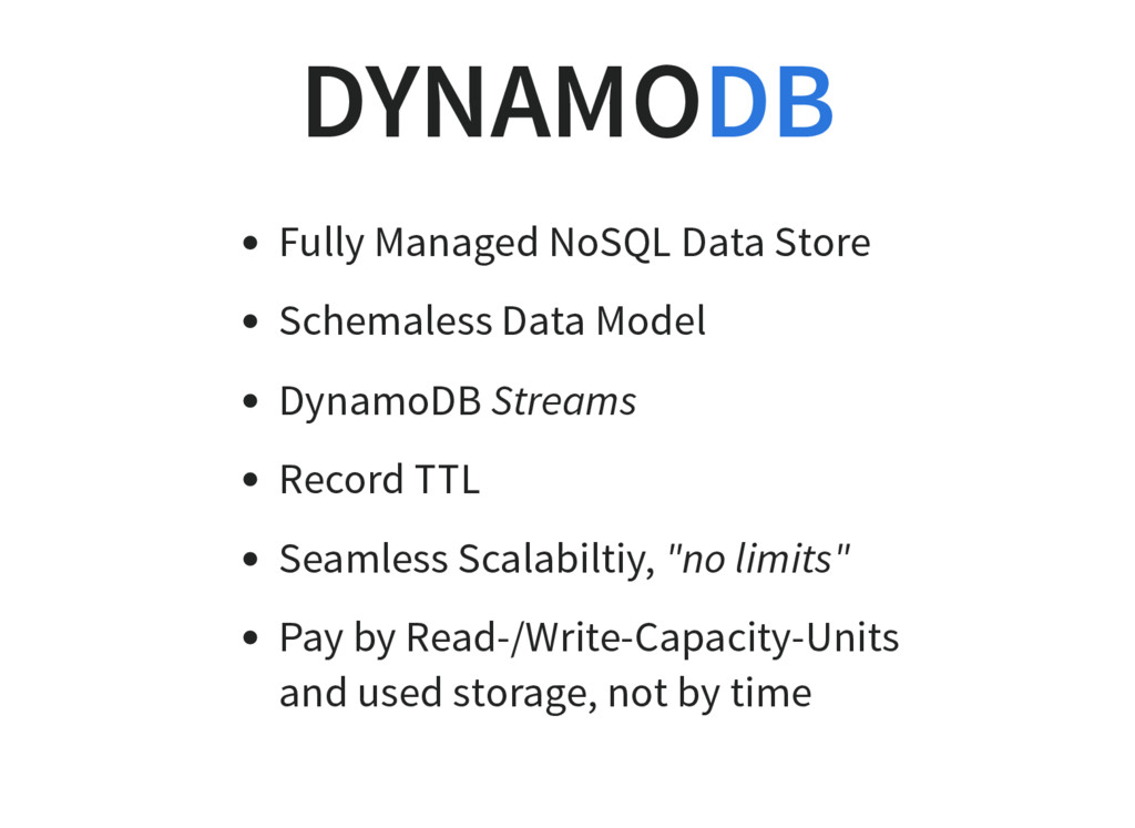 DYNAMO Fully Managed NoSQL Data Store Schemales...