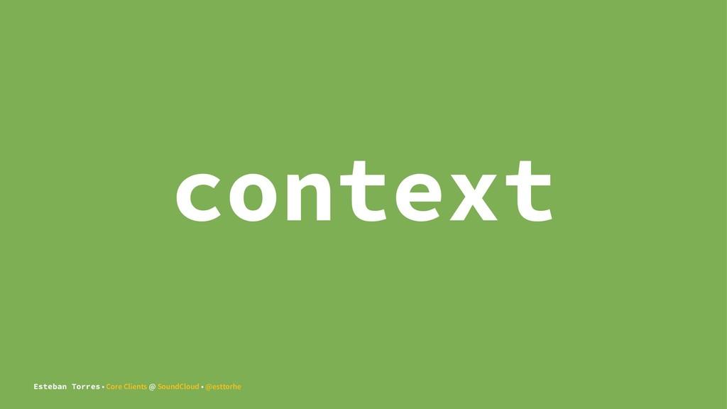 context Esteban Torres • Core Clients @ SoundCl...