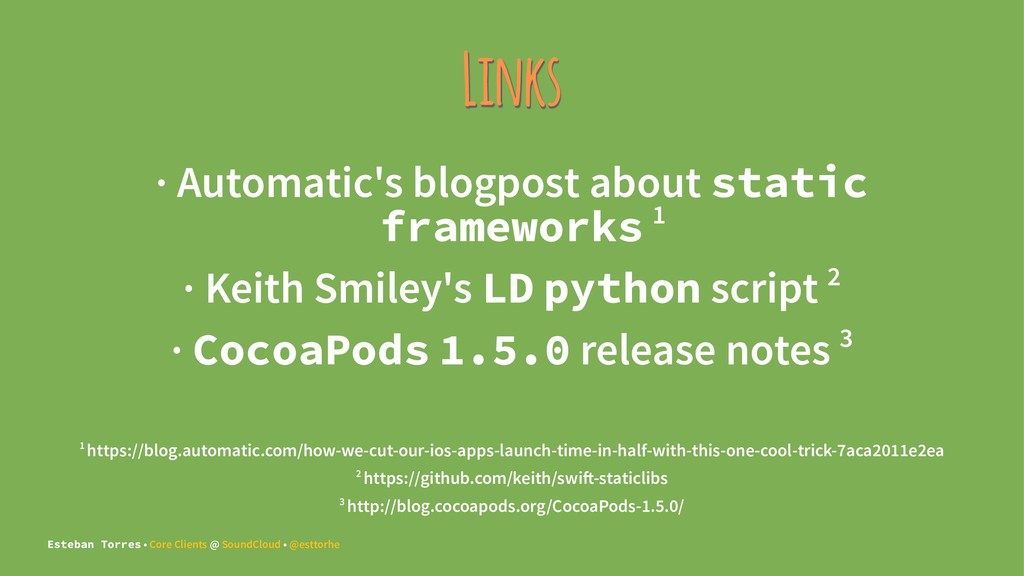 Links · Automatic's blogpost about static frame...