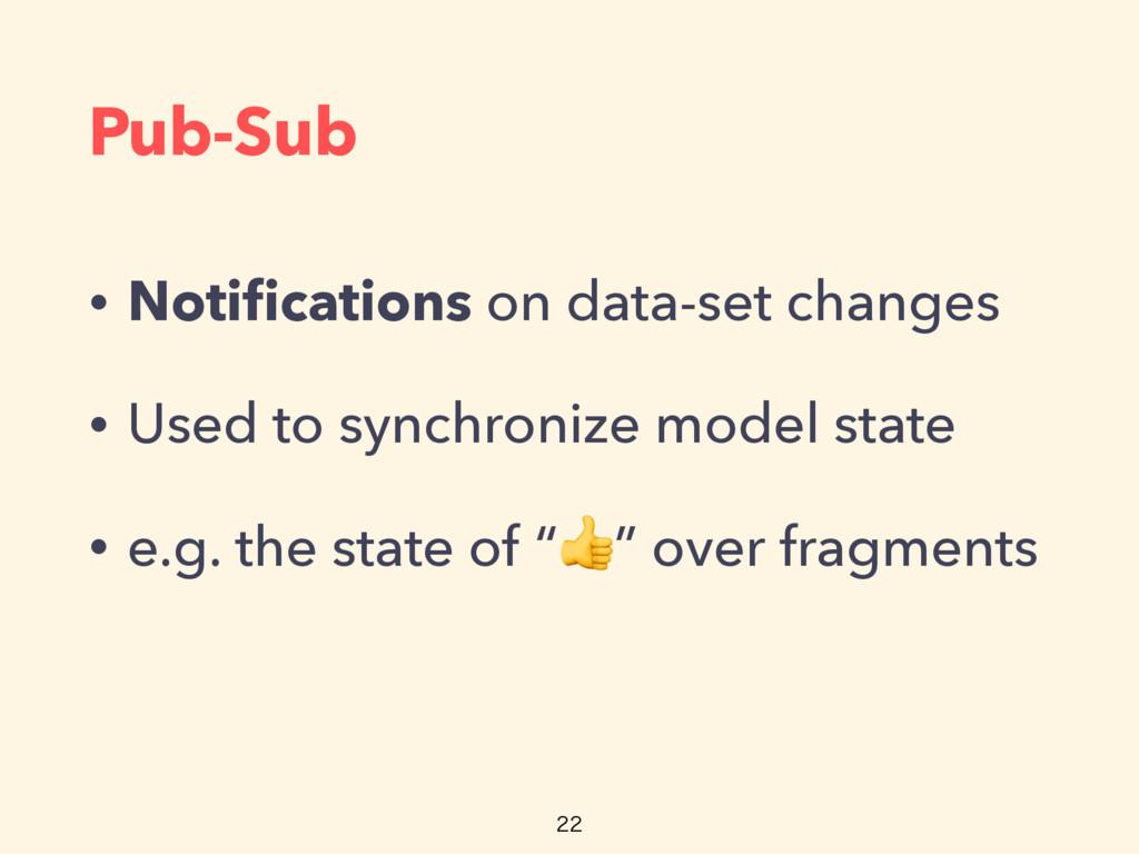 Pub-Sub • Notifications on data-set changes • Us...