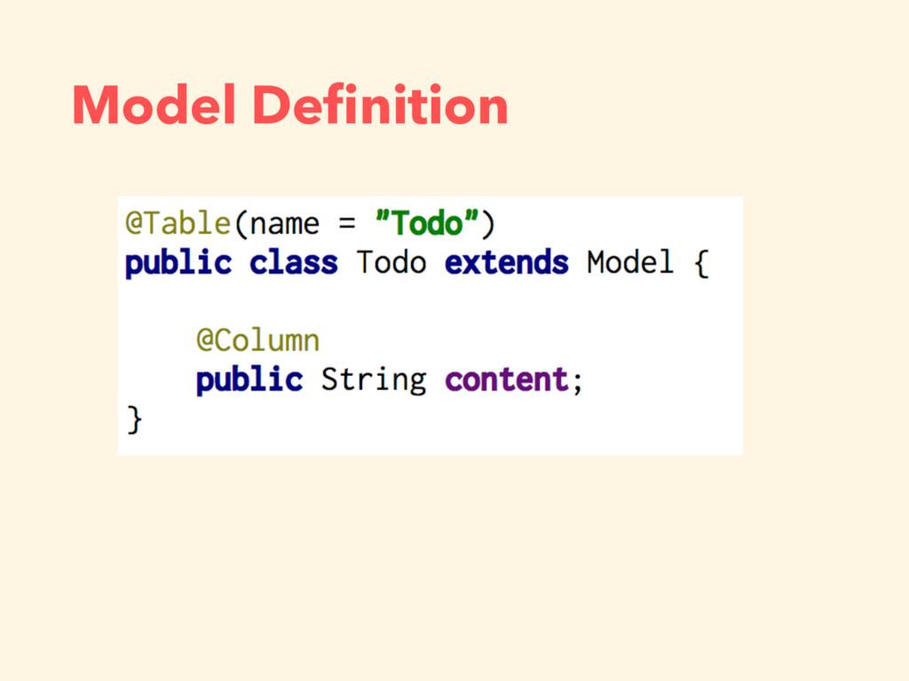 Model Definition