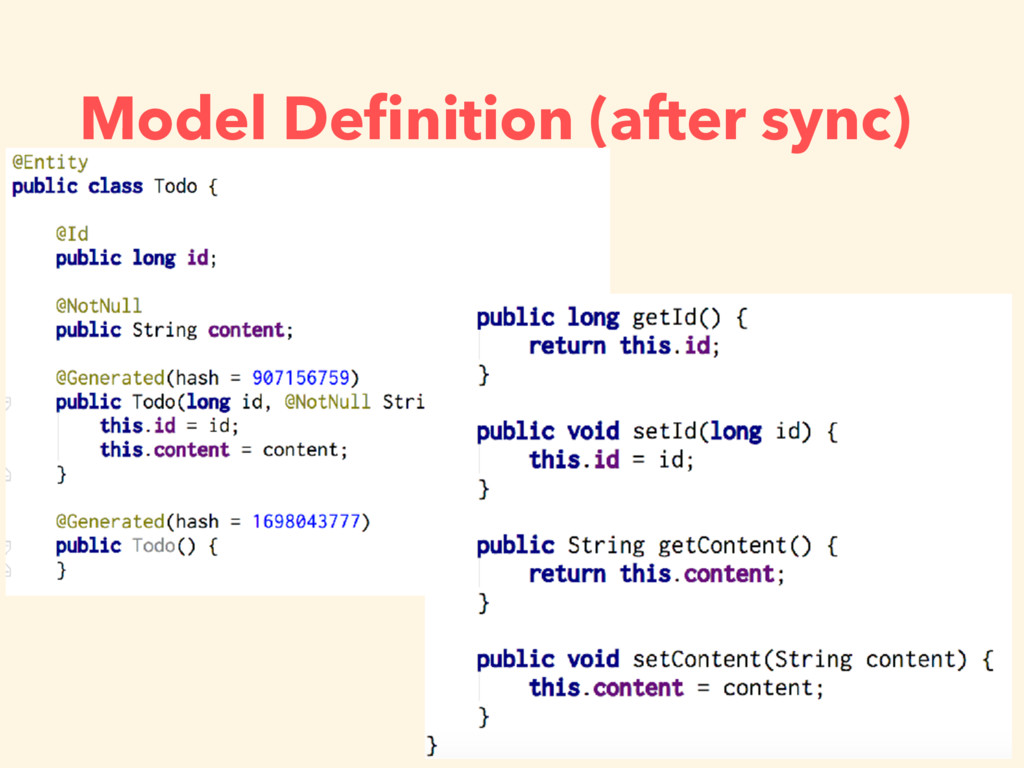 Model Definition (after sync)