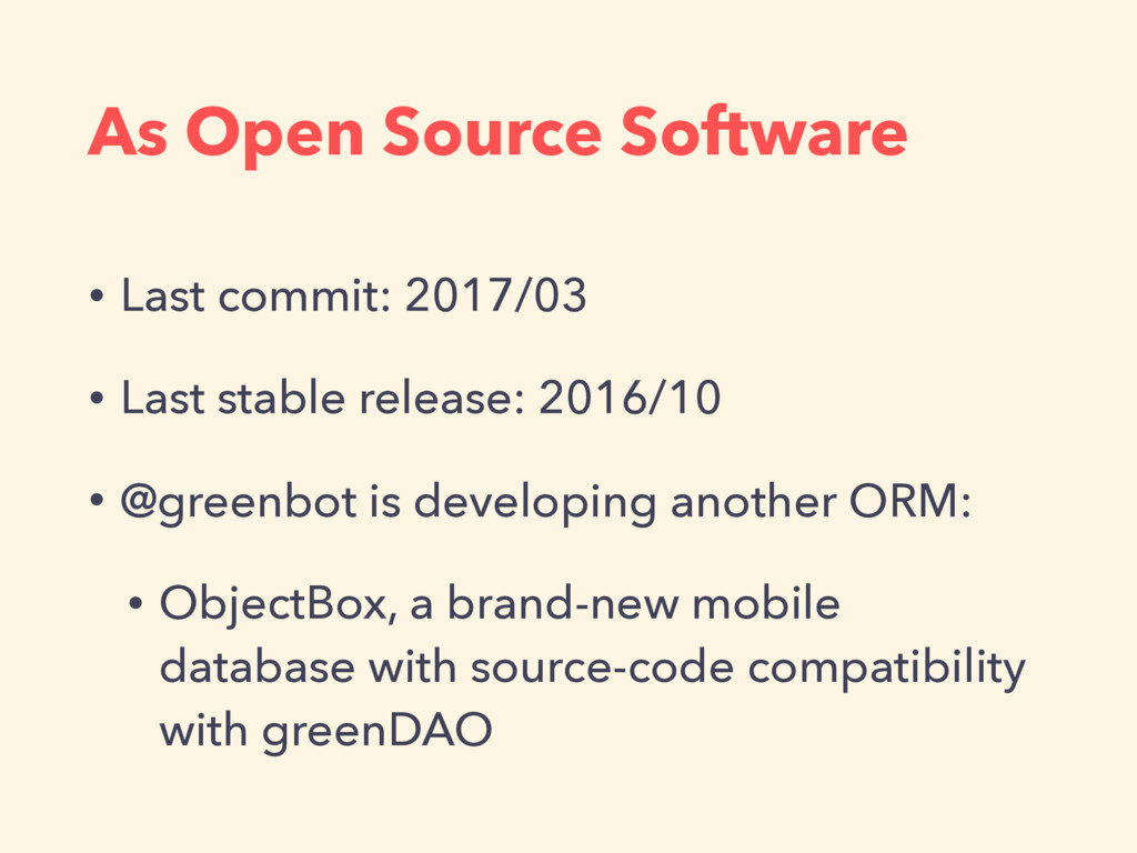As Open Source Software • Last commit: 2017/03 ...