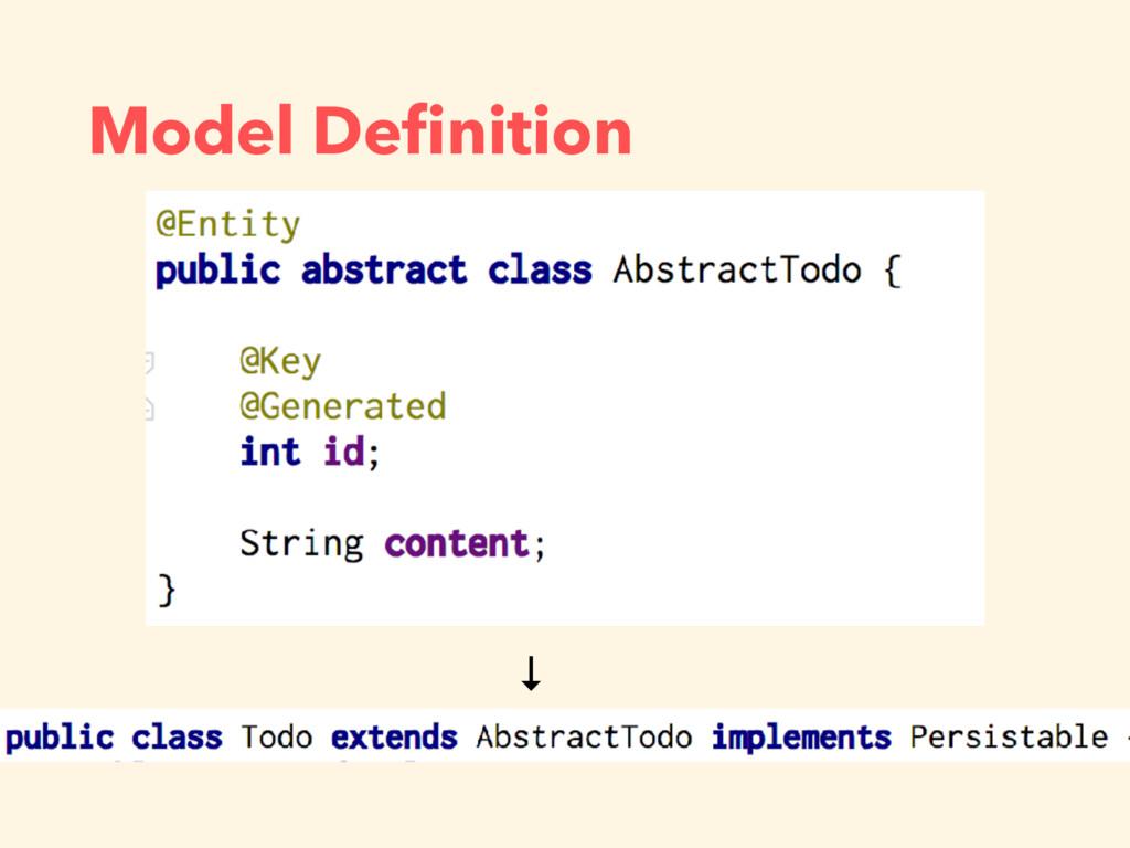 Model Definition ↓