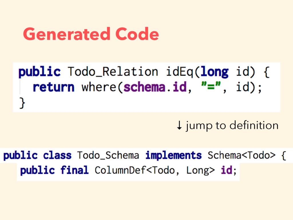 Generated Code ↓ jump to definition