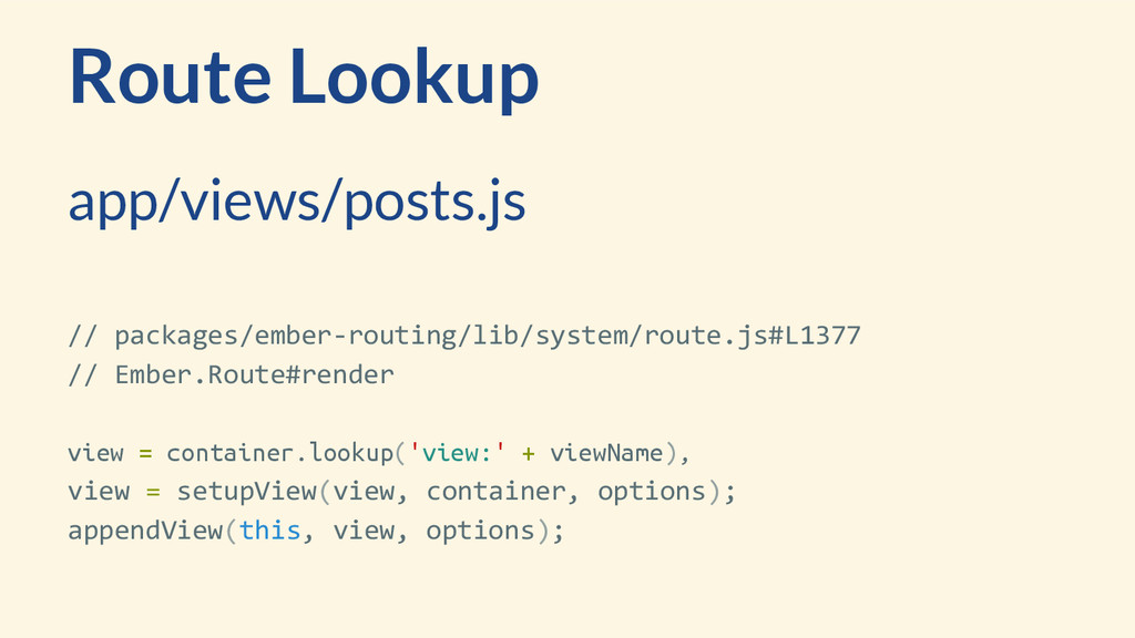 Route Lookup // packages/ember-routing/lib/syst...