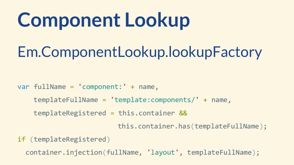 Component Lookup Em.ComponentLookup.lookupFacto...