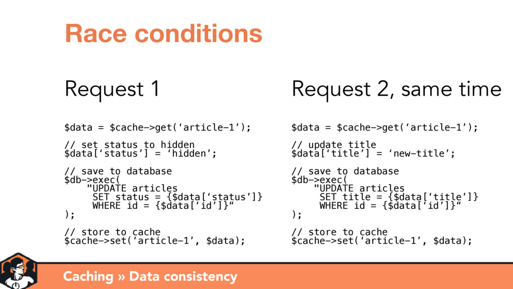 Caching » Data consistency Race conditions Requ...