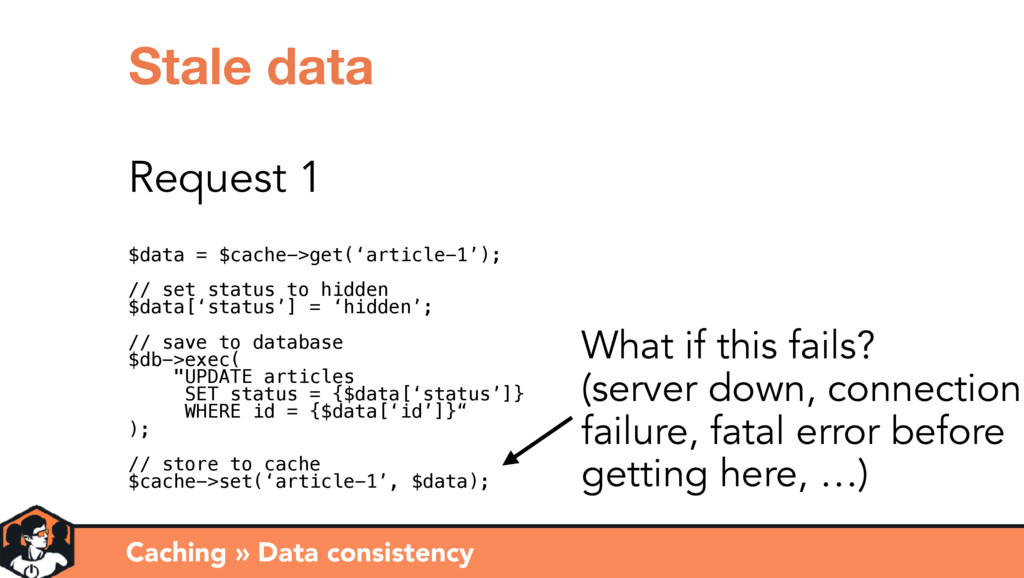 Caching » Data consistency Stale data Request 1...