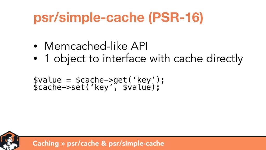 Caching » psr/cache & psr/simple-cache psr/simp...