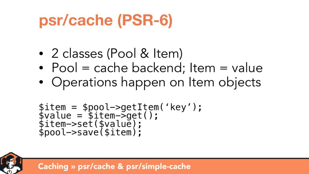 Caching » psr/cache & psr/simple-cache psr/cach...