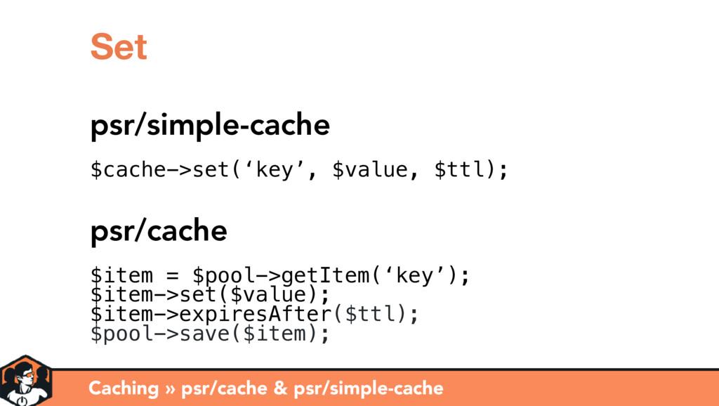 Caching » psr/cache & psr/simple-cache Set psr/...