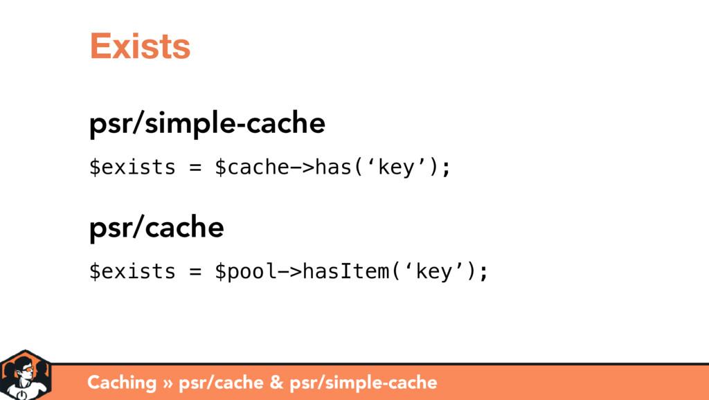 Caching » psr/cache & psr/simple-cache Exists p...