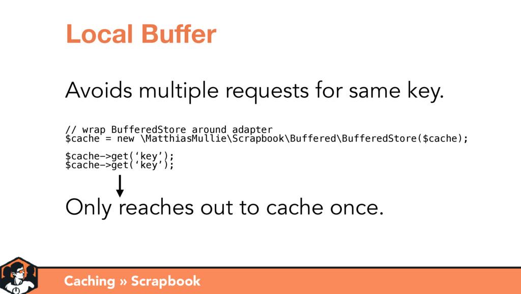 Caching » Scrapbook Local Buffer Avoids multiple...