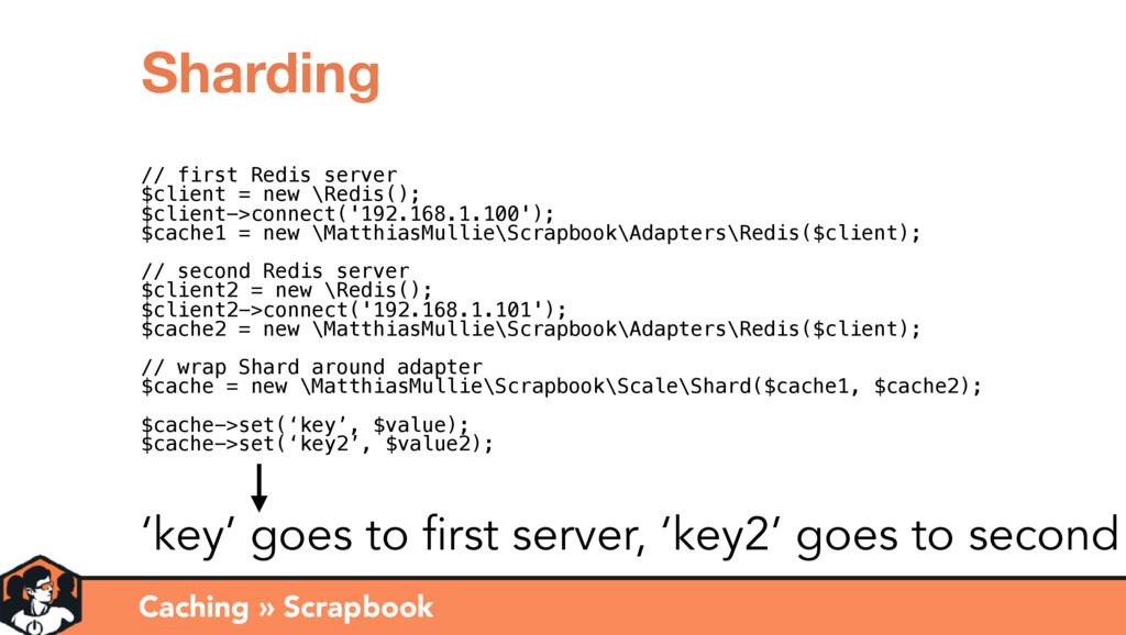 Caching » Scrapbook Sharding // first Redis ser...
