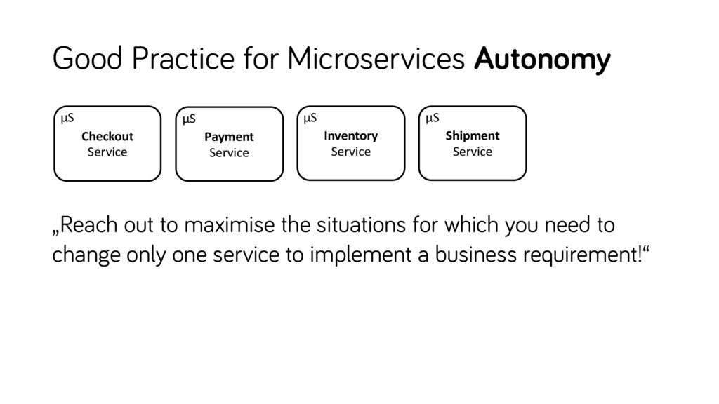 Good Practice for Microservices Autonomy Invent...