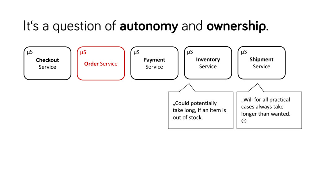 It's a question of autonomy and ownership. Inve...