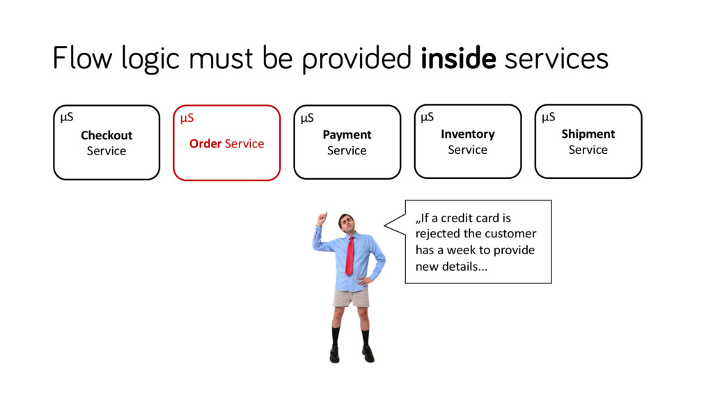 Flow logic must be provided inside services Inv...