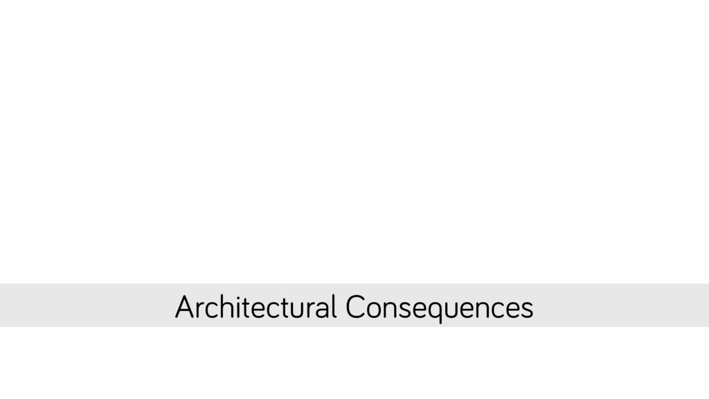 Architectural Consequences