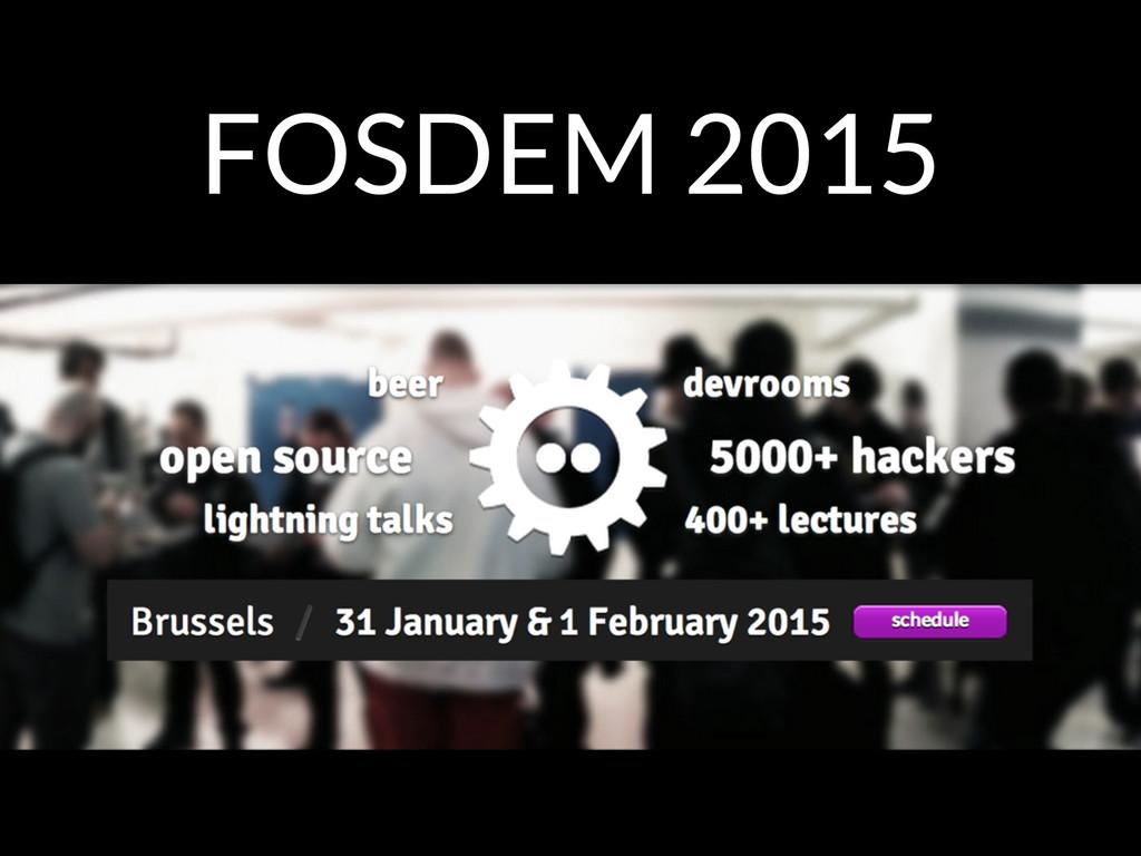 FOSDEM 2015