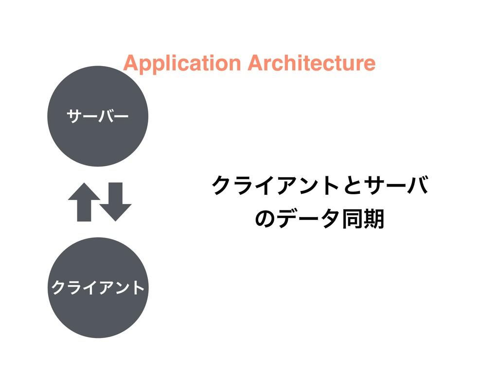 αʔόʔ ΫϥΠΞϯτ ΫϥΠΞϯτͱαʔό ͷσʔλಉظ Application Archi...