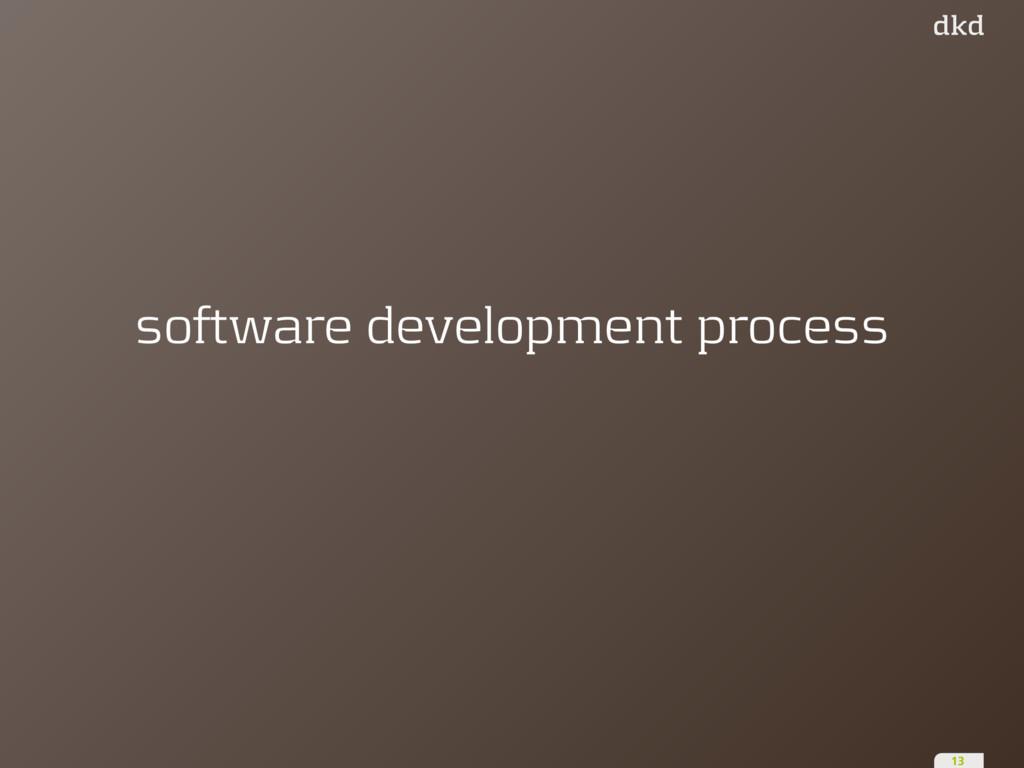software development process 13