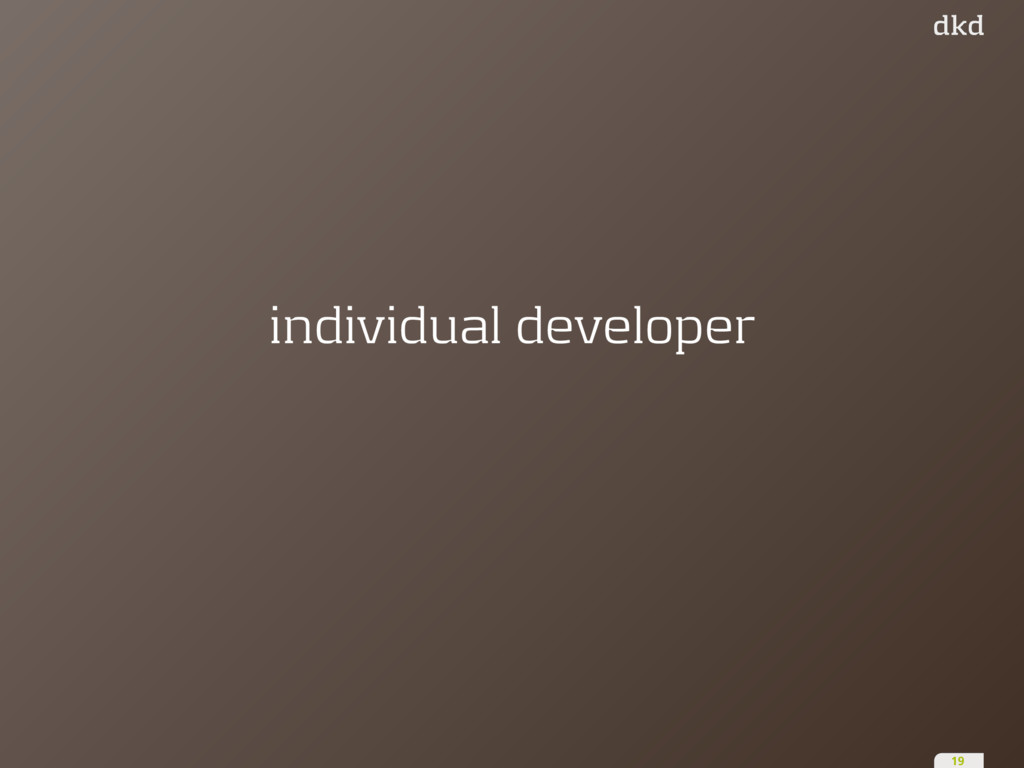 individual developer 19