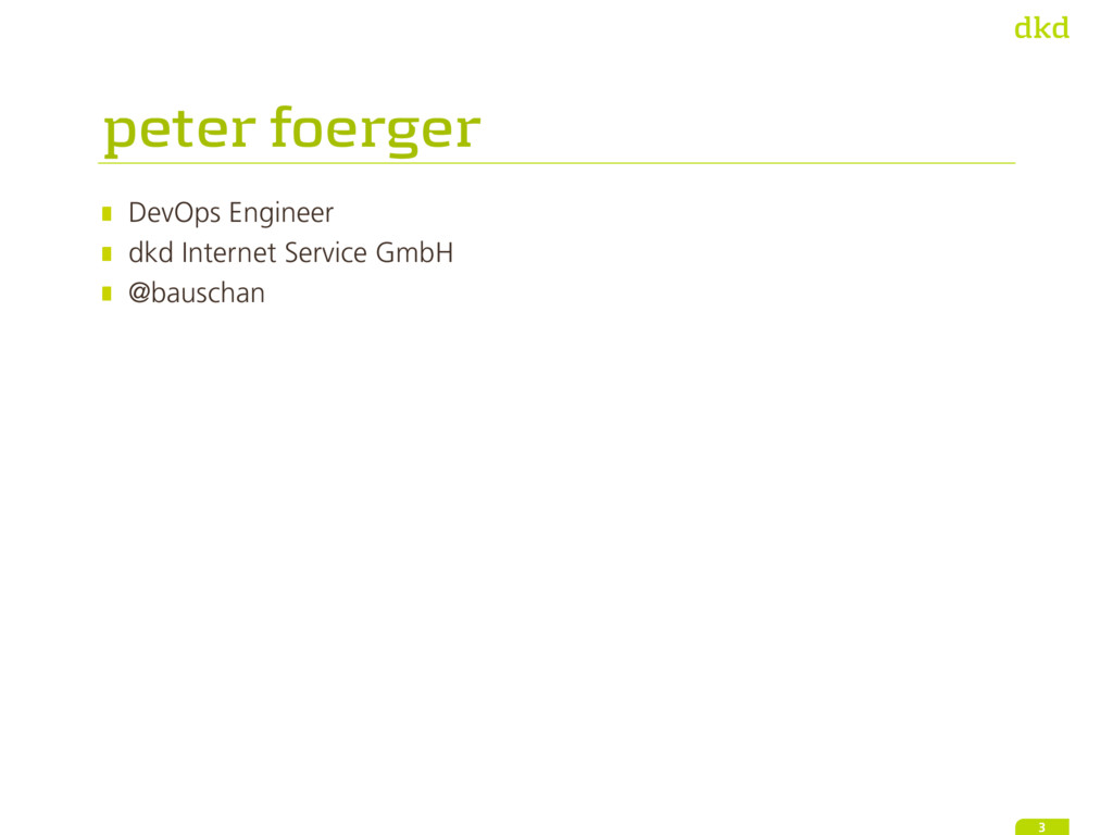 peter foerger DevOps Engineer dkd Internet Serv...