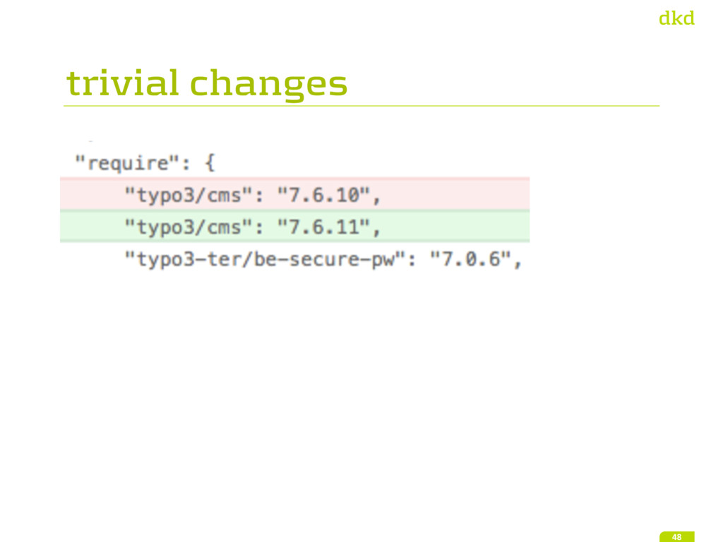 trivial changes 48