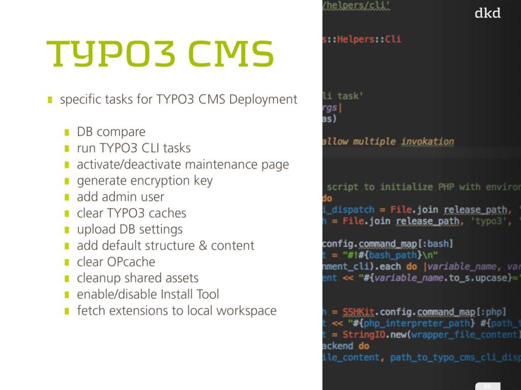 TYPO3 CMS specific tasks for TYPO3 CMS Deployme...