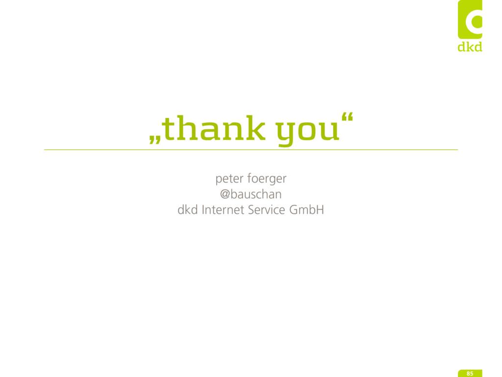 """""""thank you"""" peter foerger @bauschan dkd Interne..."""