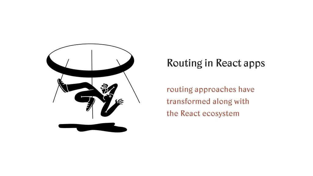 Routing in React apps routing approaches have t...