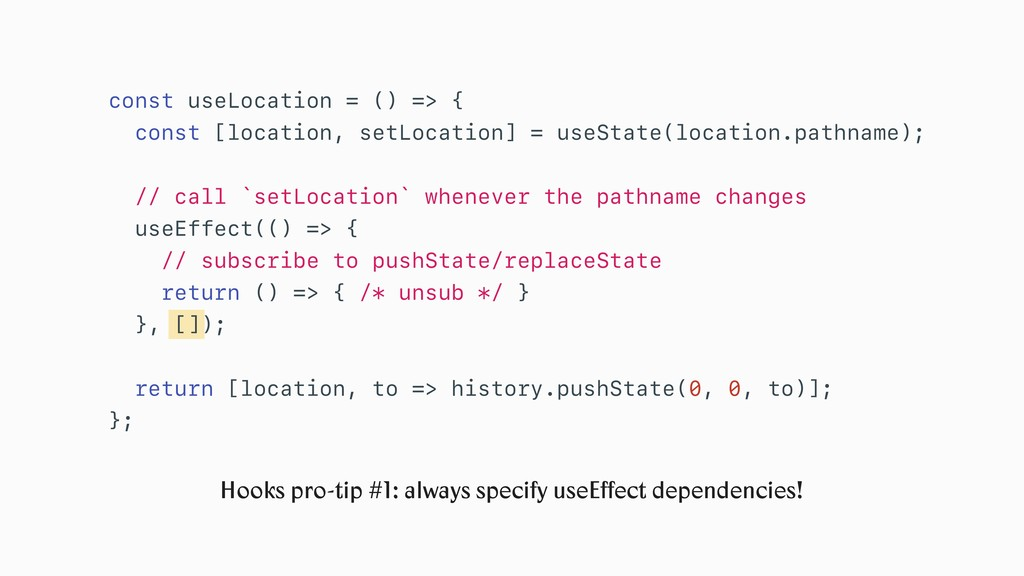 Hooks pro-tip #1: always specify useEffect depen...