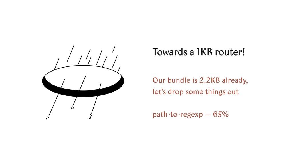 Towards a 1KB router! Our bundle is 2.2KB alrea...