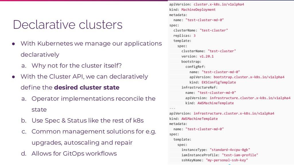 @kubernetesonarm Declarative clusters apiVersio...