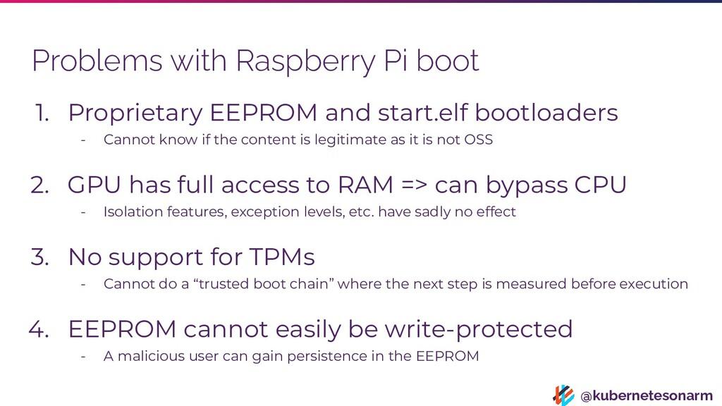 @kubernetesonarm Problems with Raspberry Pi boo...