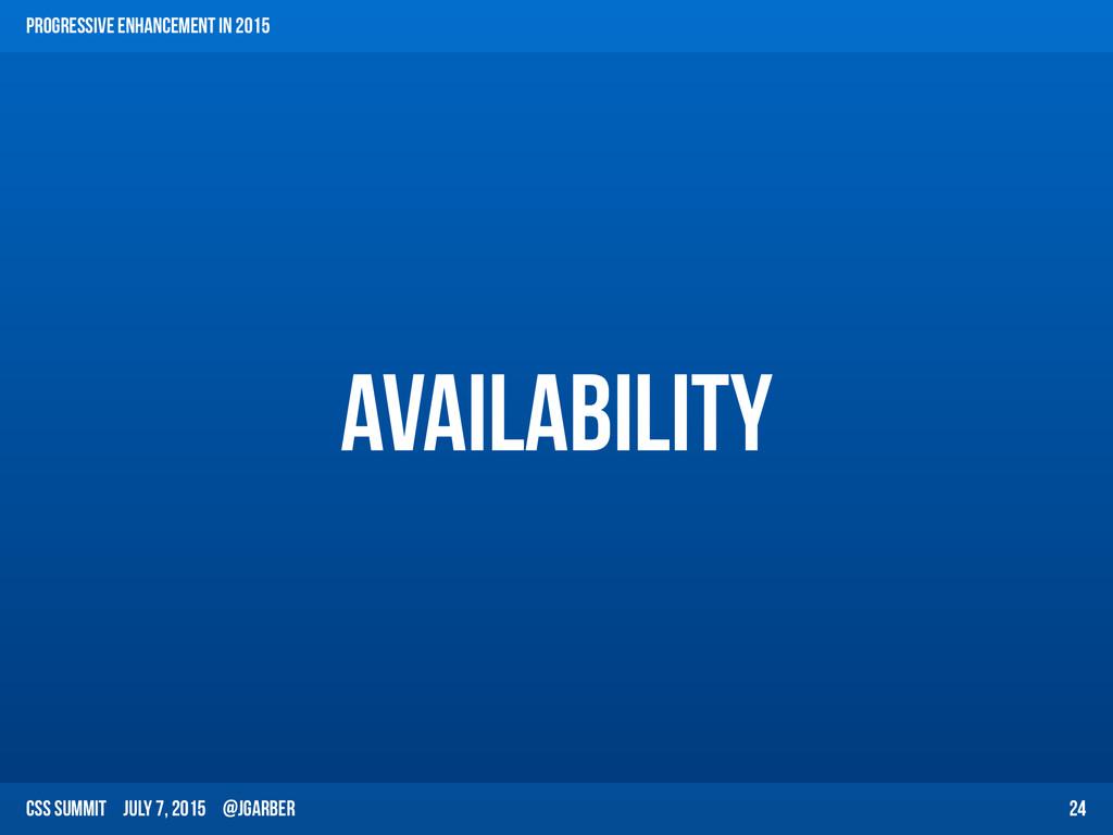 CSS Summit July 7, 2015 @jgarber Availability 2...