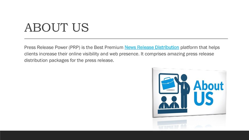 ABOUT US Press Release Power (PRP) is the Best ...