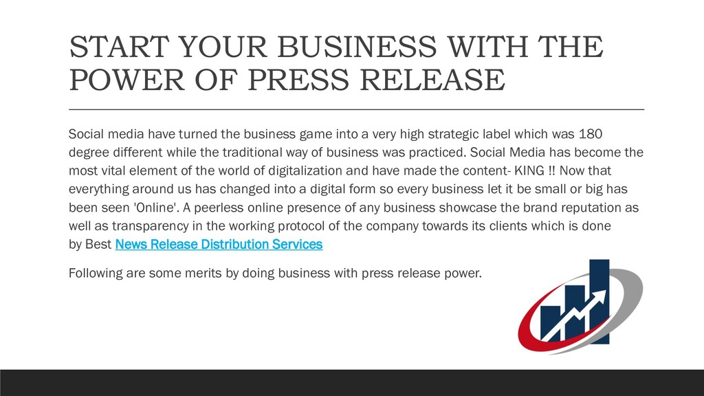 START YOUR BUSINESS WITH THE POWER OF PRESS REL...