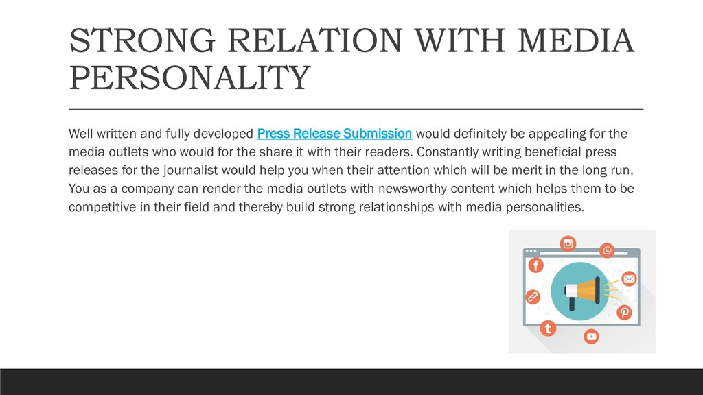STRONG RELATION WITH MEDIA PERSONALITY Well wri...