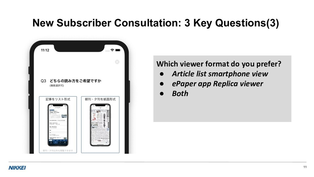11 New Subscriber Consultation: 3 Key Questions...