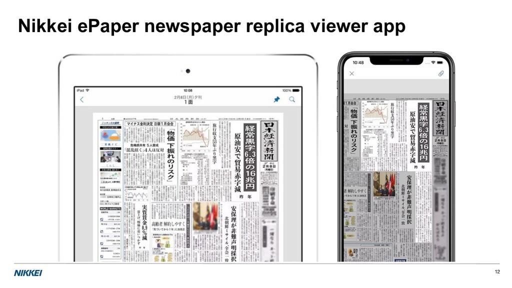 Nikkei ePaper newspaper replica viewer app 12