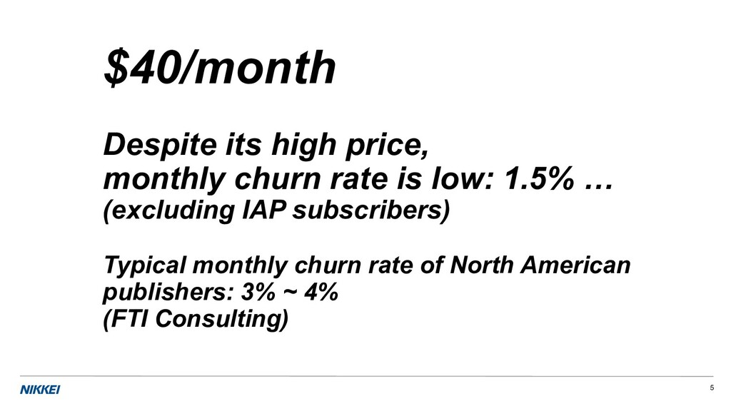 5 $40/month Despite its high price, monthly chu...