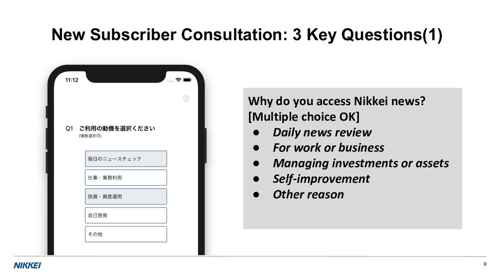 9 New Subscriber Consultation: 3 Key Questions(...