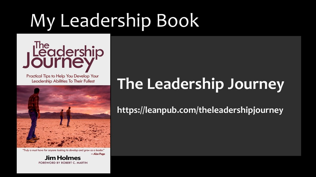 The Leadership Journey https://leanpub.com/thel...
